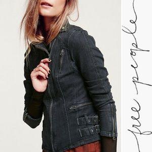 Free People • Buckle Moto denim jacket